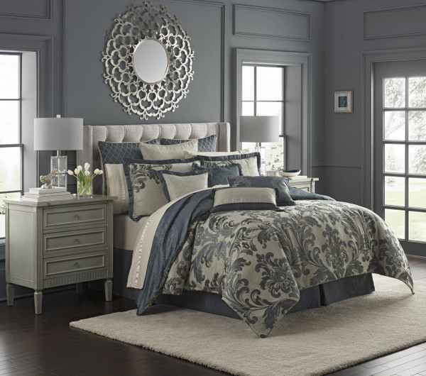 Everett Teal Bedding Collection -