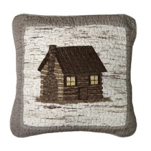 Birch Forest Cabin Pillow - 754069861019
