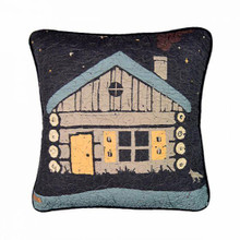 Moonlit Cabin Pillow - 754069612017