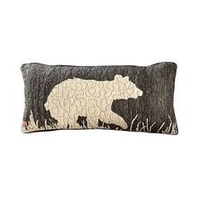 Moonlit Cabin Bear Boudoir Pillow - 754069611171