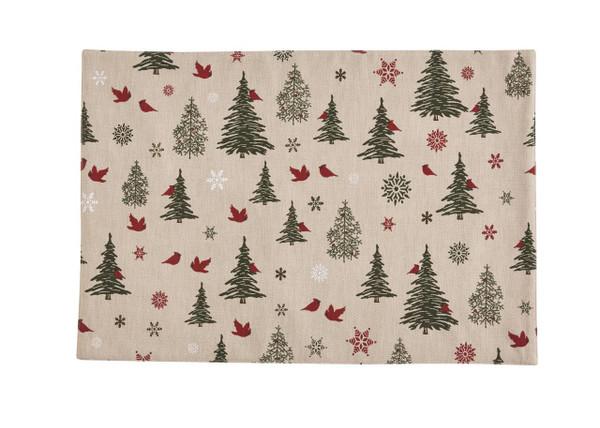 Woodland Christmas Printed Placemat Set - 762242430037
