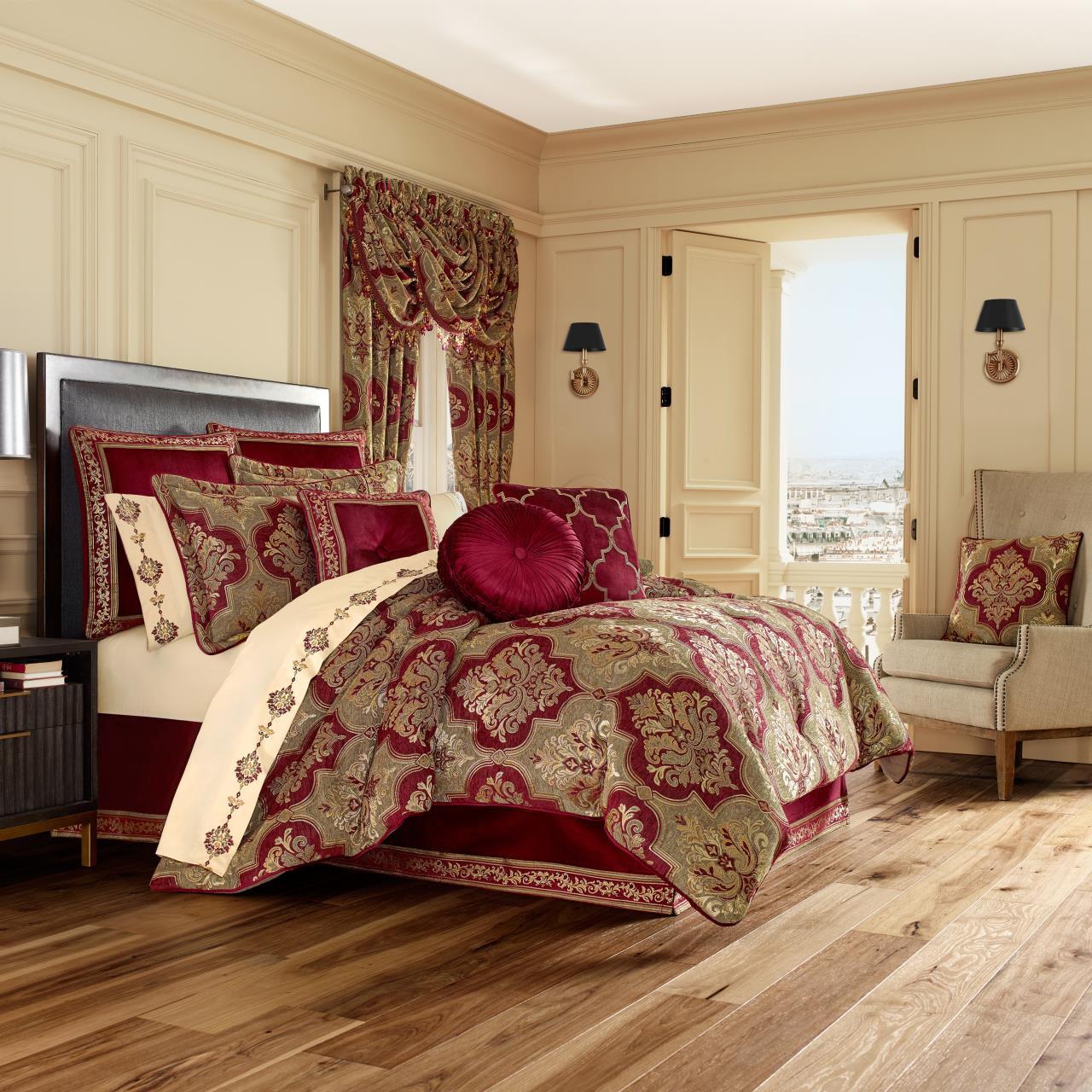 Maribella Crimson Comforter Collection -