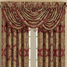Maribella Crimson Waterfall Valance - 846339092435