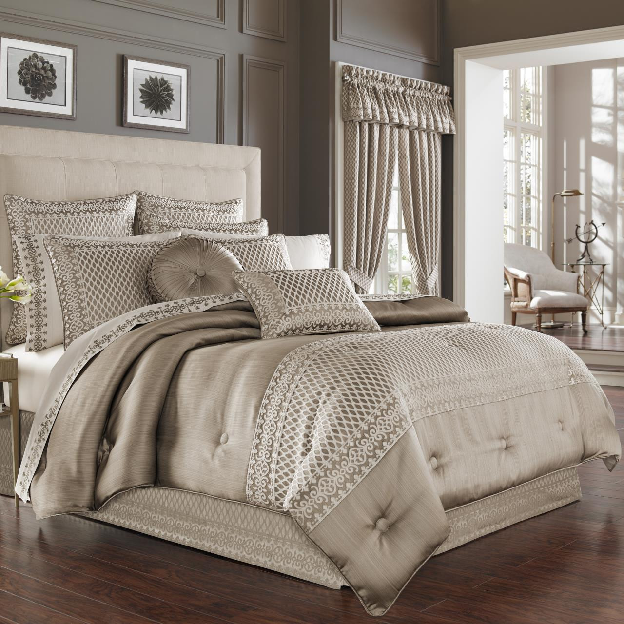 Beaumont Champagne Comforter Collection -