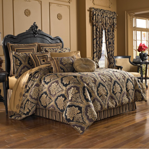 Reilly Black Comforter Collection -