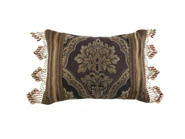 Reilly Black Boudoir Pillow - 846339081224