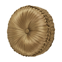 Reilly Black Tufted Round Pillow - 846339081798
