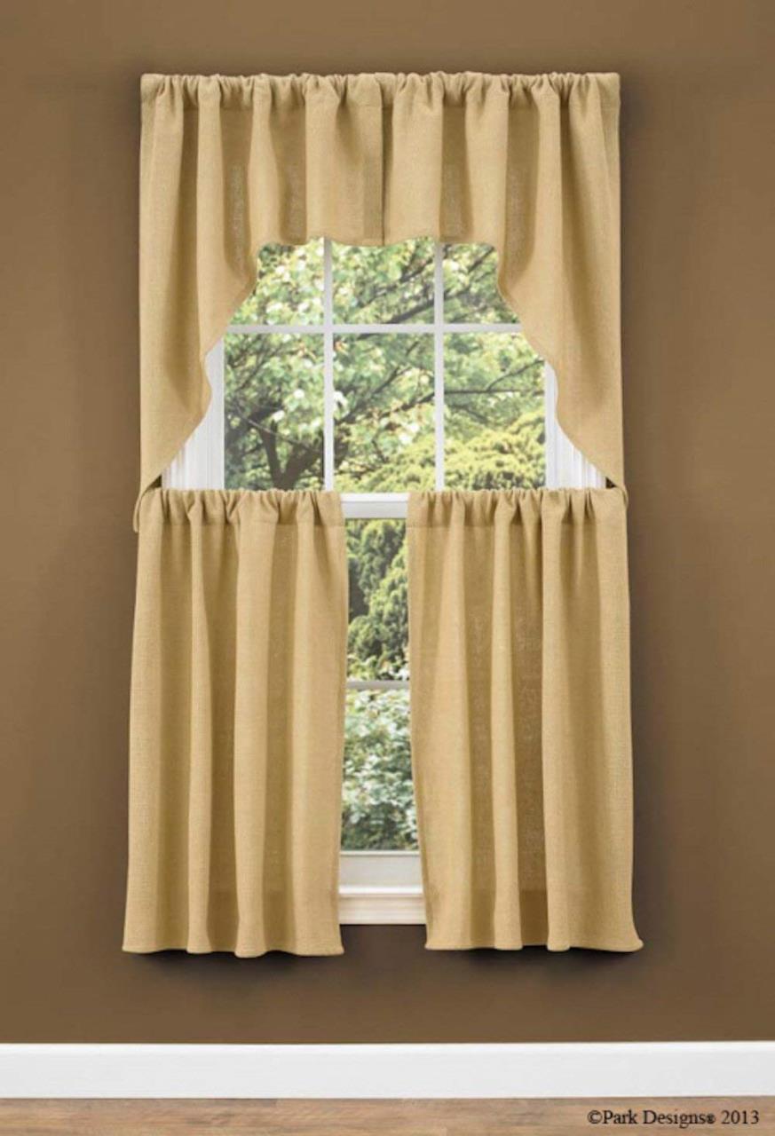 Burlap Window Treatments -