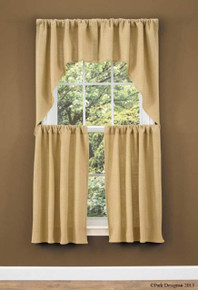 Burlap Window Treatments -