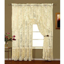 Abbey Rose Lace Curtain Panel - 748779012328