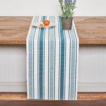 Rose Trellis Jacquard Sea Glass Table Runner - 008246557661