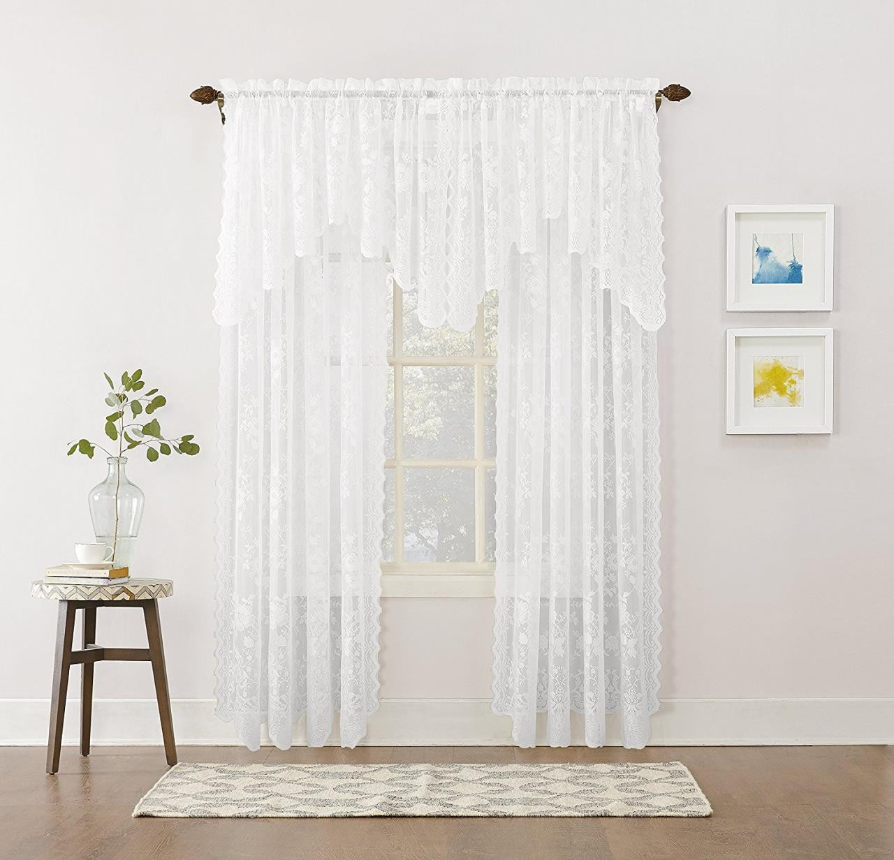 Alison Floral Lace Curtain -