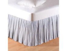 Blue Ticking Bed Skirt - 008246226819