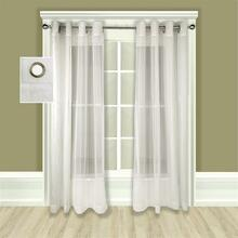 Atlantic Stripe Grommet Sheer Curtain -