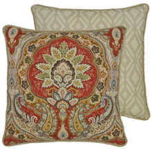 Harrogate Paisley Throw Pillow - 849203035187