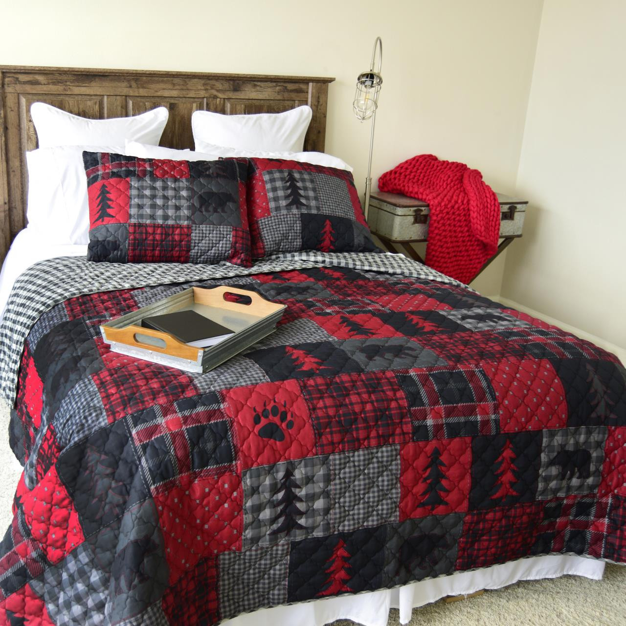 Red Forest Quilt Collection -
