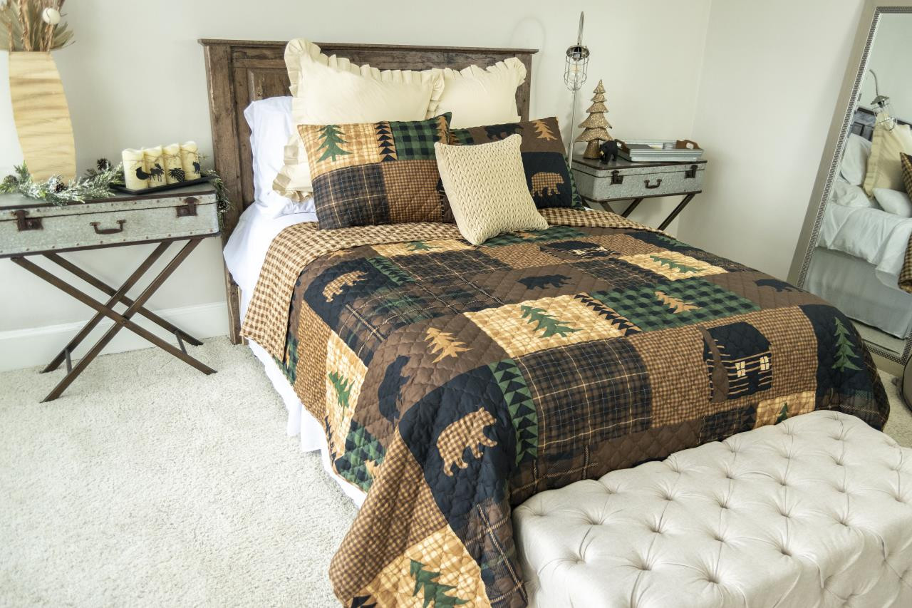 Brown Bear Cabin Quilt Collection -