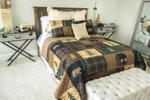 Brown Bear Cabin Quilt Set - 754069200047