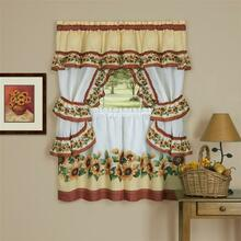 Black Eyed Susans Kitchen Curtain Set -