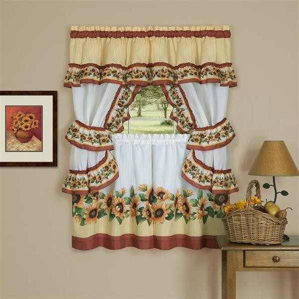 Black Eyed Susans Kitchen Curtain Set -