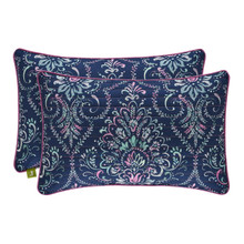 Kayani Indigo Quilted Boudoir Pillow - 846339097560