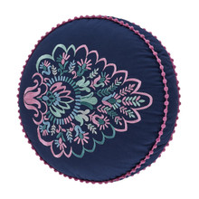 Kayani Indigo Round Pillow - 846339096051