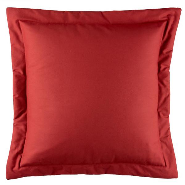 Bouvier Red Black Solid Euro Sham - 138641169616