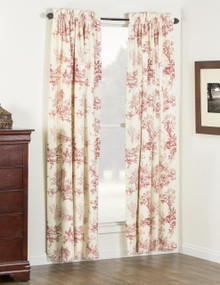 Bouvier Red Curtains - 138641170056