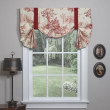 Bouvier Red Tie Up Curtain - 138641170438