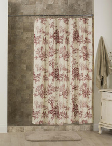 Bouvier Red Toile Shower Curtain - 138641170810