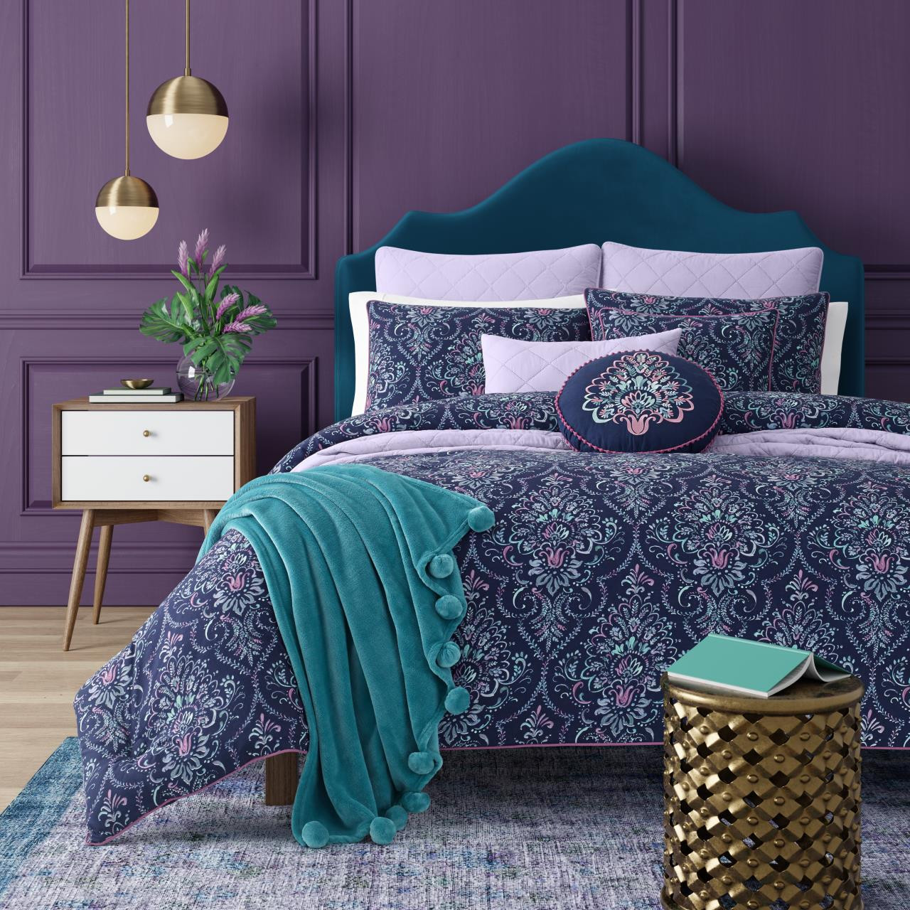Kayani Indigo Mini Comforter Set - 846339096174