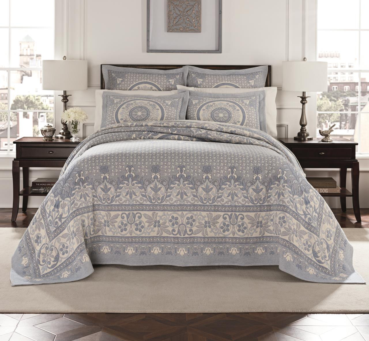 Basset Blue Matalesse Bedding Collection -