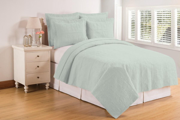 Sea Glass Matelasse Quilt Collection -