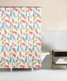 Flip Flop Shower Curtain - 008246794219