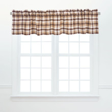 Dunmore Plaid Cocoa Valance - 008246797319