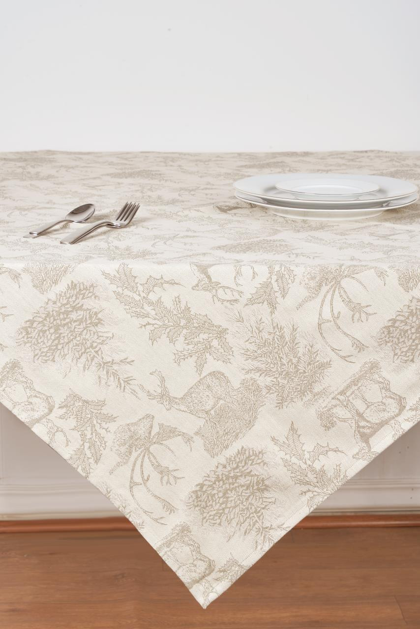 Jacquard Stag Clay Table Topper - 008246797234