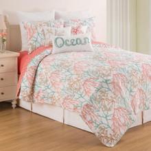 Oceanaire Seafoam Quilt Set - 008246790594