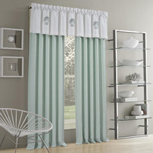 Water's Edge Aqua Curtain Pair - 846339098352