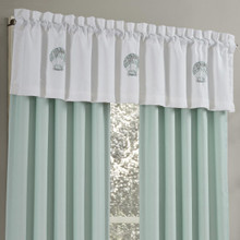 Water's Edge Aqua straight Valance - 846339098406