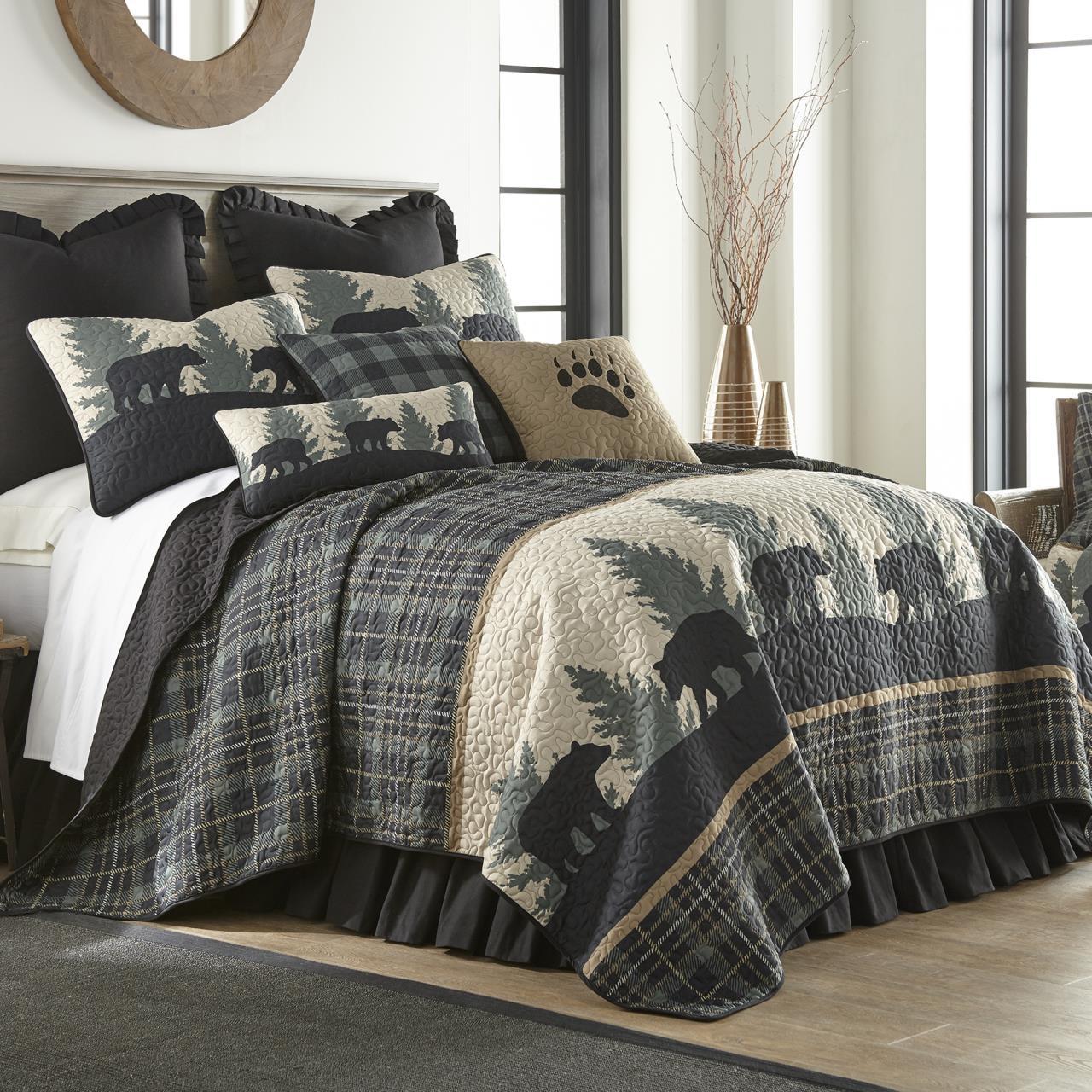 Bear Walk Plaid Quilt Collection -