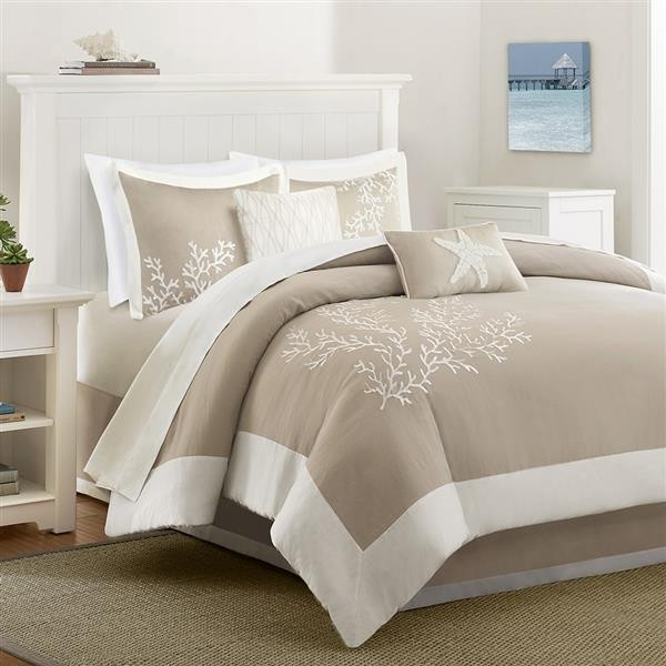 Coastline Taupe Bedding Collection -