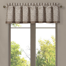 Cracked Ice Taupe Straight Valance - 193842104828