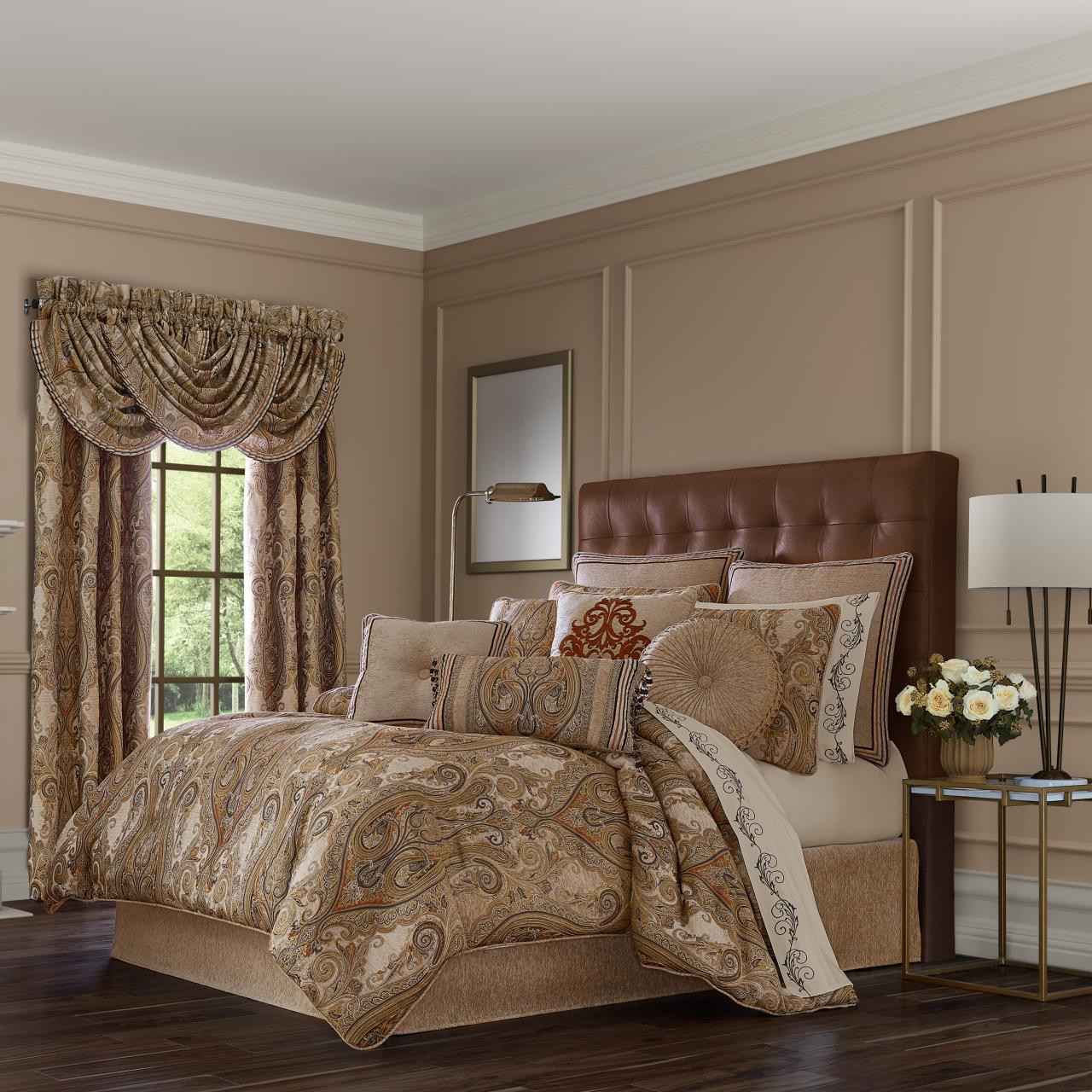 Luciana Beige Comforter Collection -