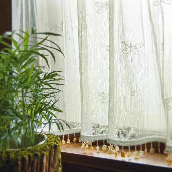 Dragonfly Lace Curtain Collection -