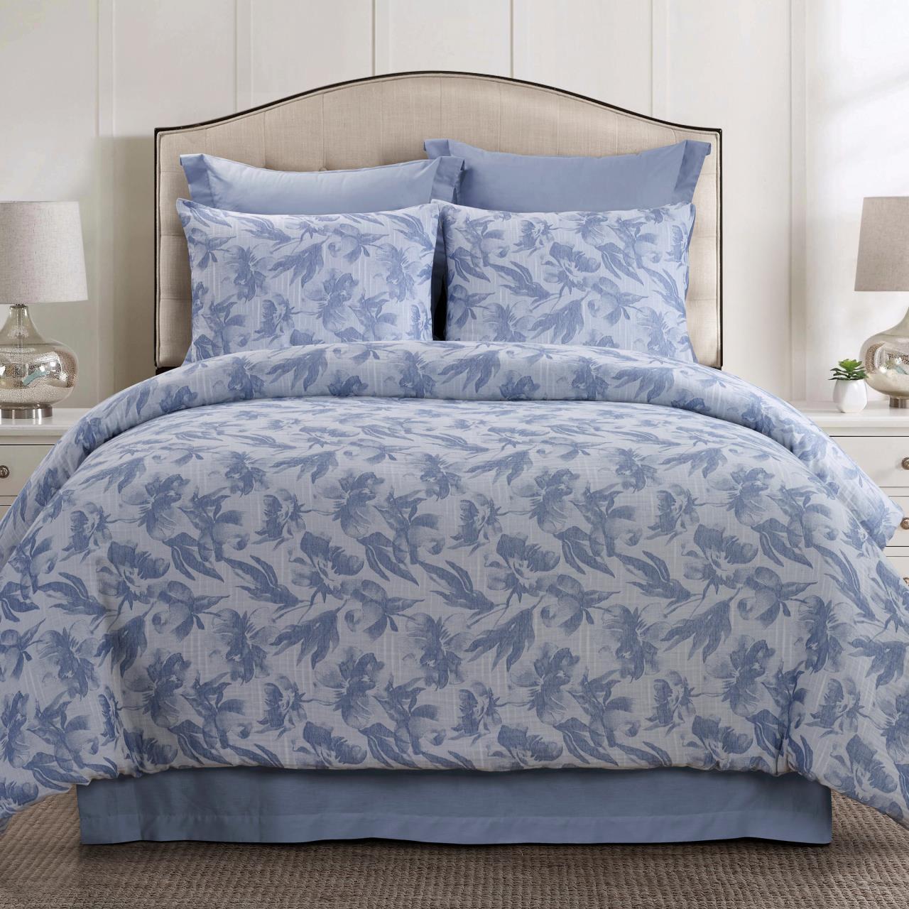Almaria Soft Blue Comforter Set - 754069006380
