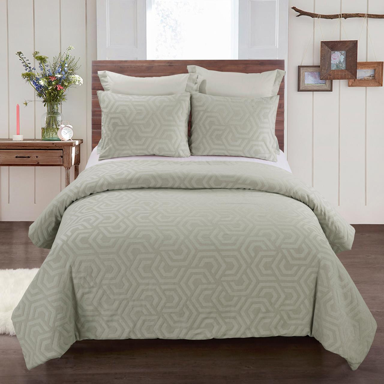 Seville Sage Comforter Set By Your Lifestyle By Donna Sharp Paul S Home Fashions