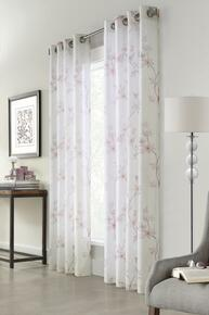 Blossom Blush Faux Linen Curtain - 069556525344