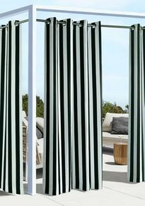 Coastal Stripe Outdoor Grommet Curtain - 069556528369