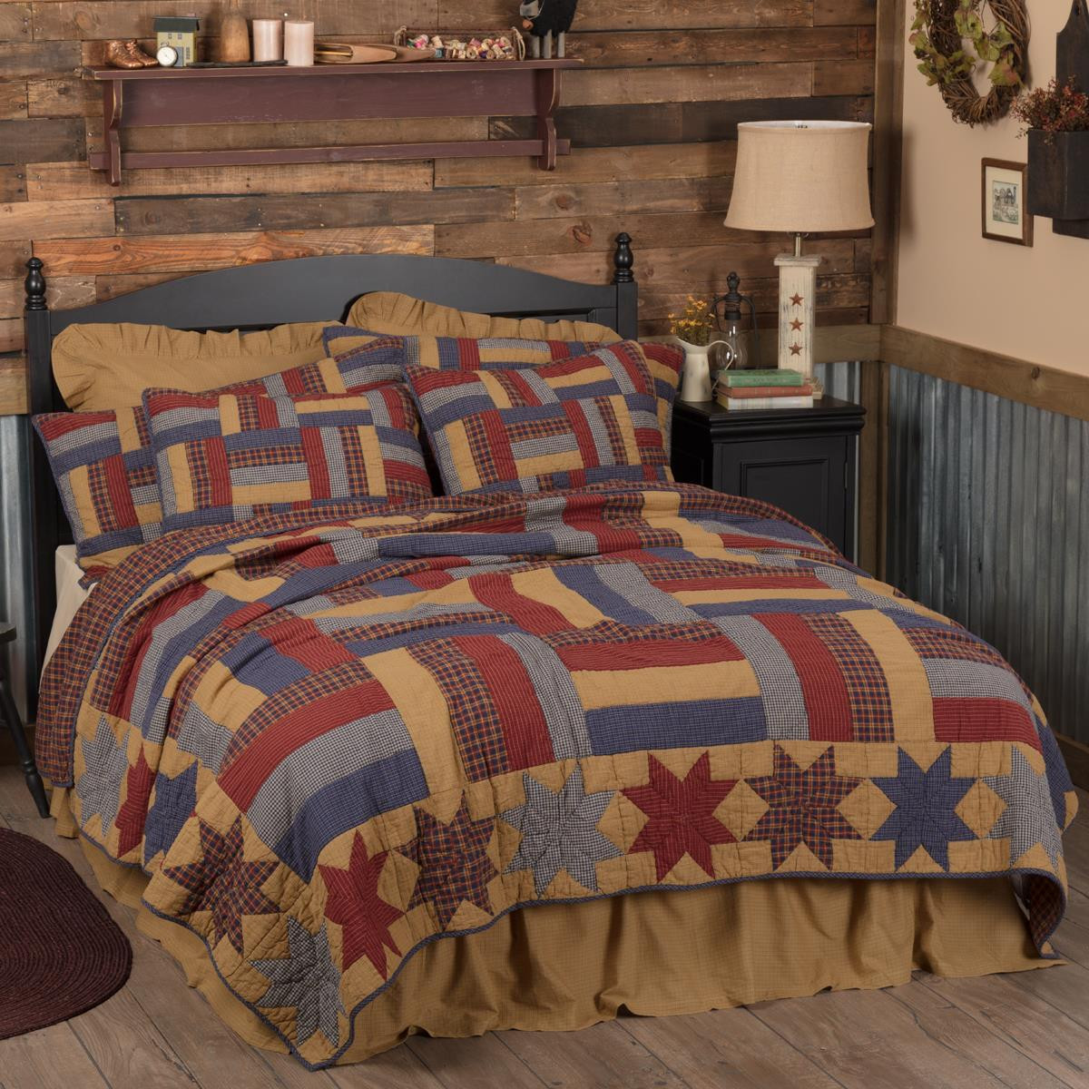 National Quilt Museum Kindred Stars and Bars Quilt Collection -
