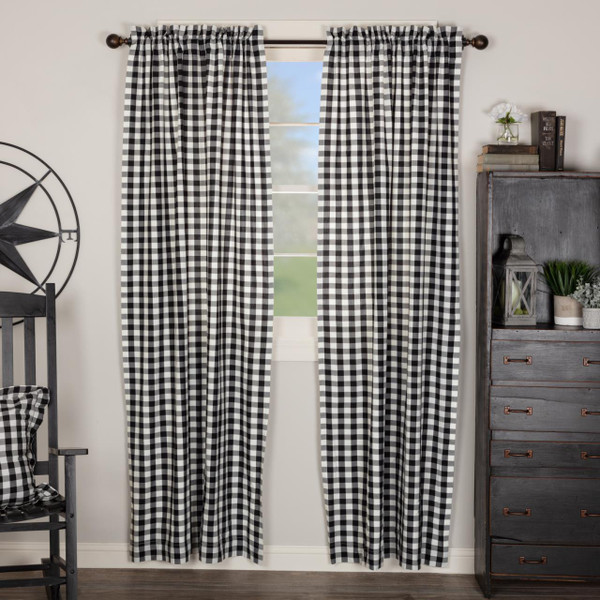 Annie Buffalo Black Check Curtain Collection -